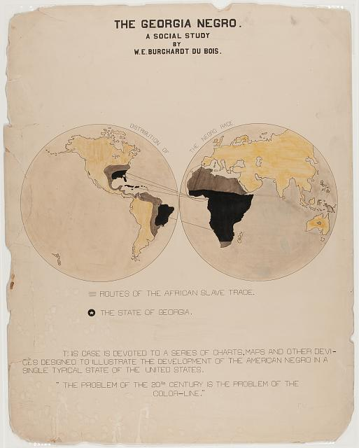 The Georgia Negro A social study. Chart (ink and watercolor on board) prepared by W. E. Burghardt Du Bois. 1900. //hdl.loc.gov/loc.pnp/ppmsca.33863