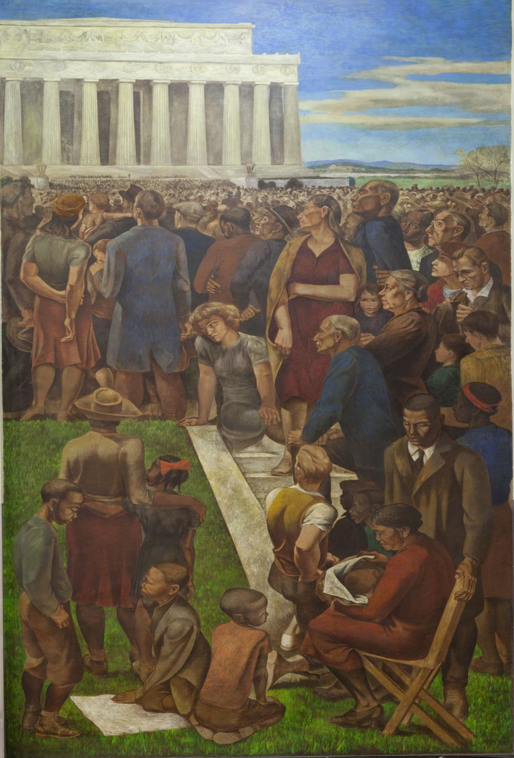 "<em>Mural ""An Incident in Contemporary American Life,"" by Mitchell Jamieson at the Department of Interior, Washington, D.C.</em> Photo by Carol M. Highsmith, 2011 September. //hdl.loc.gov/loc.pnp/highsm.24752"