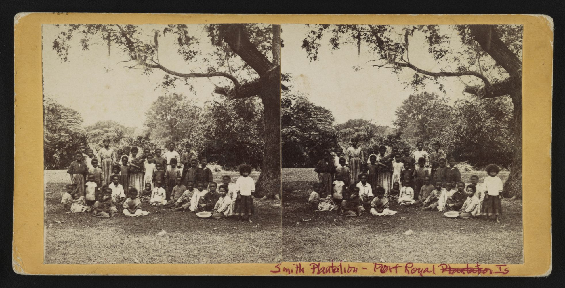 Smith Plantation, Port Royal Island, S.C. Albumen print stereograph by Hubbard & Mix, between 1863 and June 1866. //hdl.loc.gov/loc.pnp/stereo.1s07100
