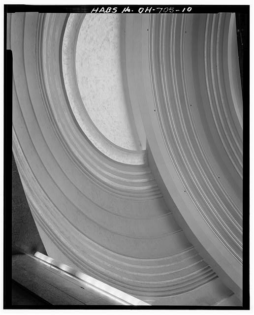DETAIL OF DOME INTERIOR, LOOKING EAST - Cincinnati Union Terminal, 1301 Western Avenue, Cincinnati, Hamilton County, OH. Photo by Galeb Faux, 1981. Historic American Buildings Survey //hdl.loc.gov/loc.pnp/hhh.oh0024/photos.127124p