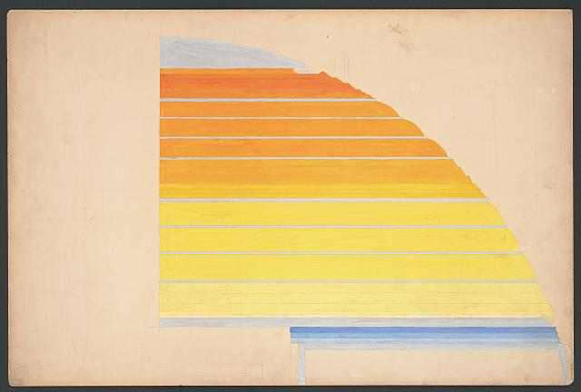 Design for Cincinnati Union Terminal. Study for the color treatment of the ceiling. Drawing by Winold Reiss, 1933. //hdl.loc.gov/loc.pnp/ppmsca.64612