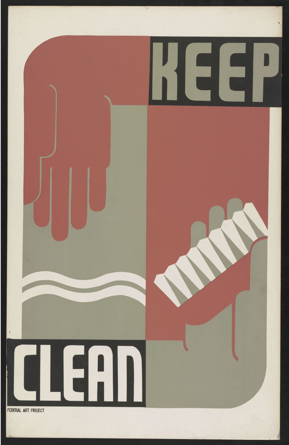 Keep Clean. Poster by Erik Hans Kraus, between 1936 and 1939. //hdl.loc.gov/loc.pnp/ppmsca.38346