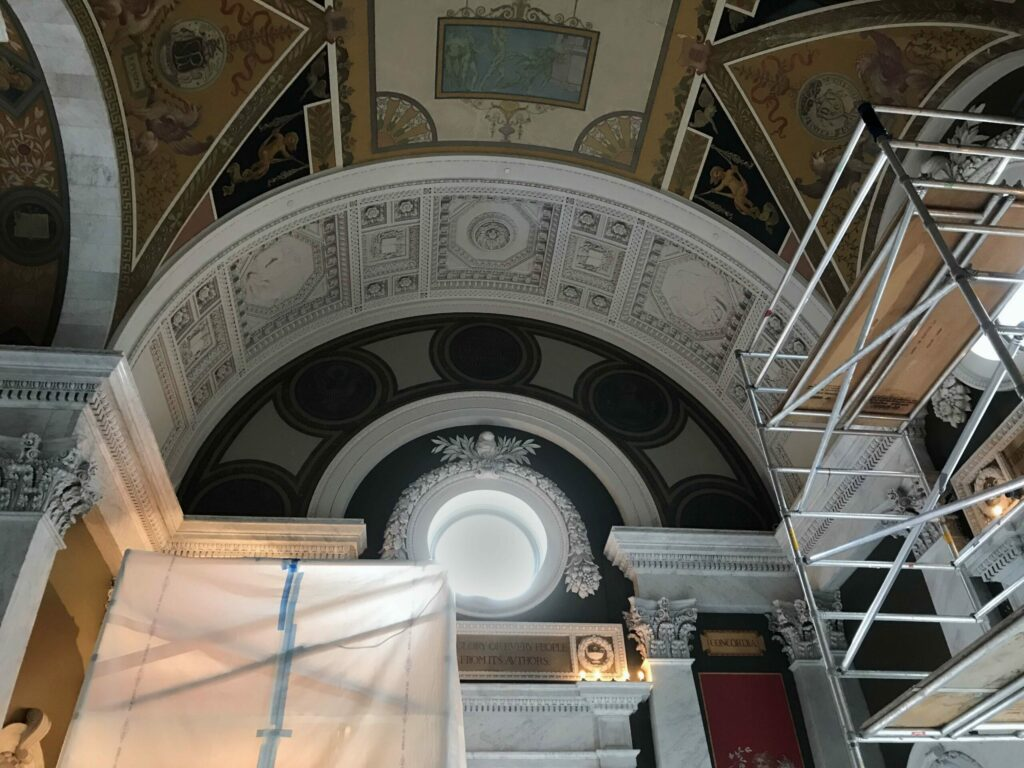 the Great Hall under-going conservation