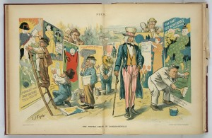 The Poster Craze in Candidateville. C. J. Taylor, 1896