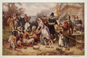 The first Thanksgiving 1621 - image created c1932