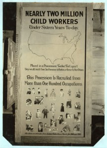 An exhibit panel used by the National Committee on Child Labor
