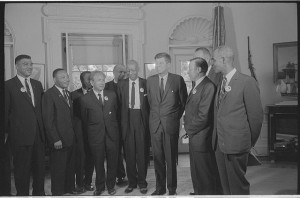 Civil rights leaders meet with President John F. Kennedy