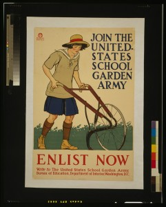 Join the United States School Garden Army. Edward Penfield, 1918.