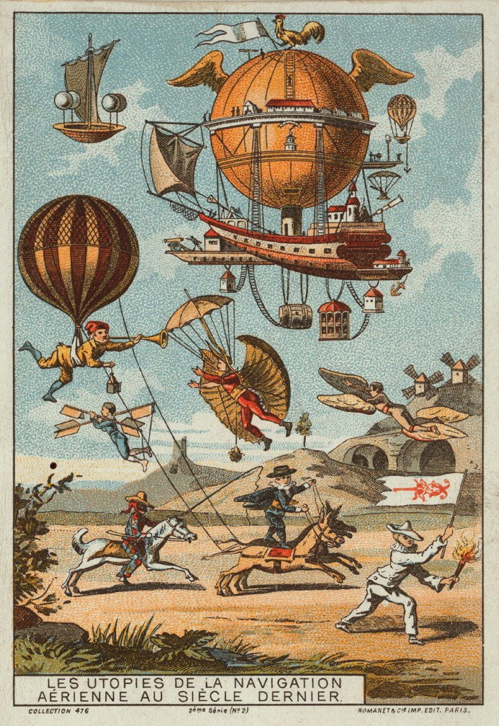 Collecting cards with pictures of events in ballooning history from 1795 to 1846