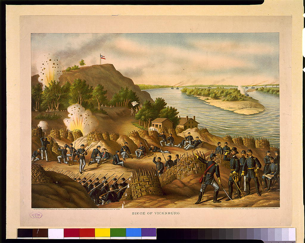 Siege of Vicksburg--13, 15, & 17 Corps, Commanded by Gen. U.S. Grant, assisted by the Navy under Admiral Porter--Surrender, July 4, 1863