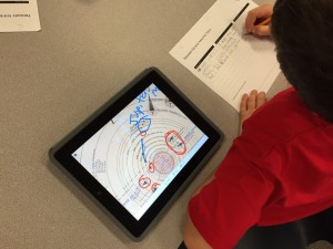 Student using eBook for Class Activity.