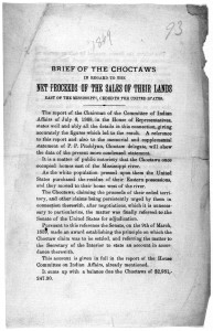 Brief of the Choctaws in regard to the net proceeds of the sales of their lands