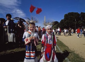 Children at a Native American march, Washington, D.C., 2003