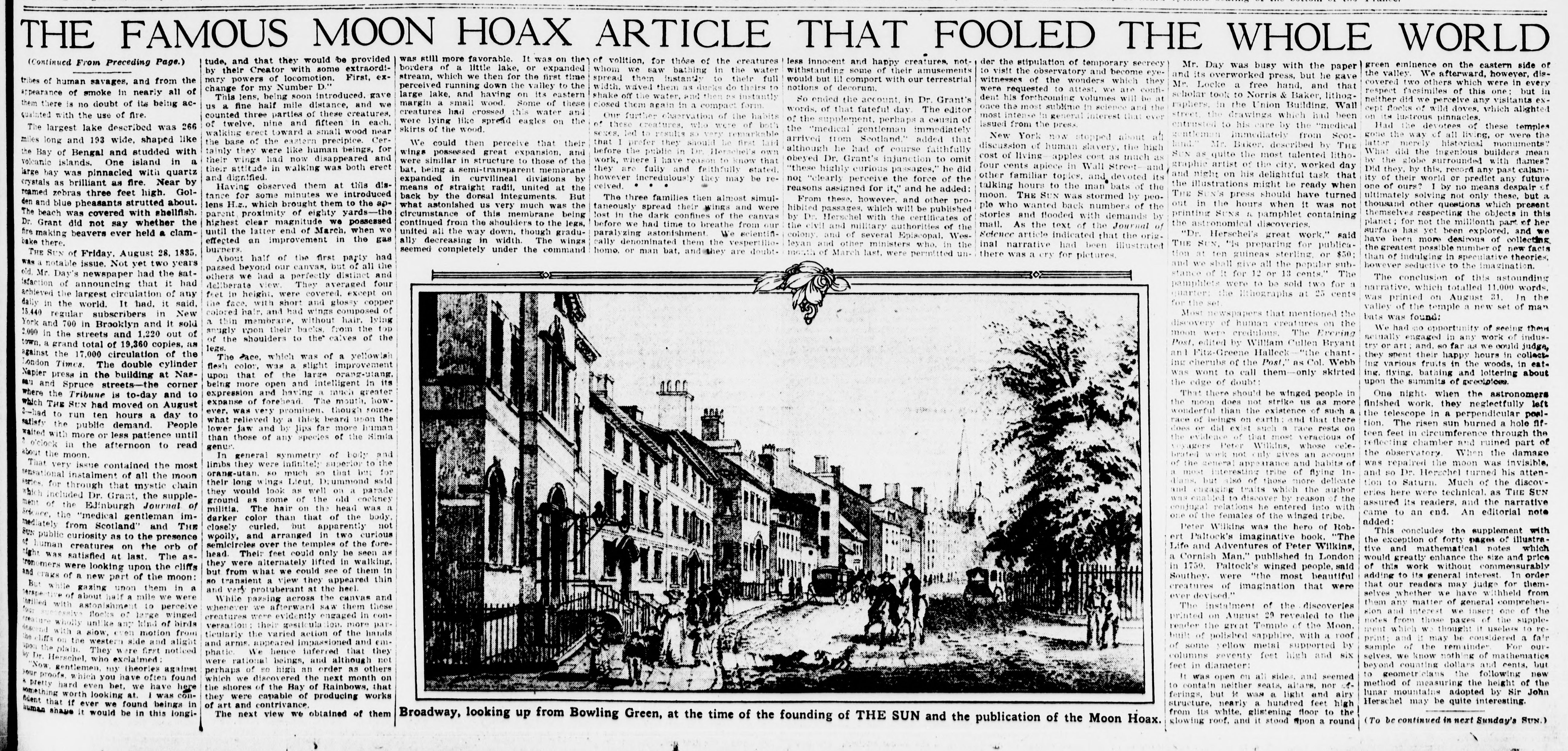 Moon Hoax article