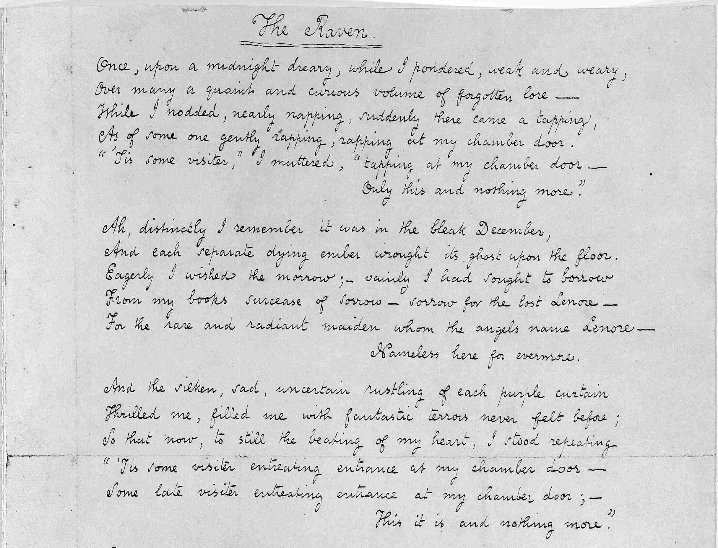 writing techniques in poes the raven essay From looking at edgar allan poe's life and from analyzing annabel lee i can clearly see how edgar allan poe uses imagery essay writing essay writing service assignment in the raven edgar allan poe used various symbols and hints to lead the reader to create an image in their head and.