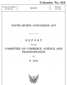 Youth Sports Concussion Act