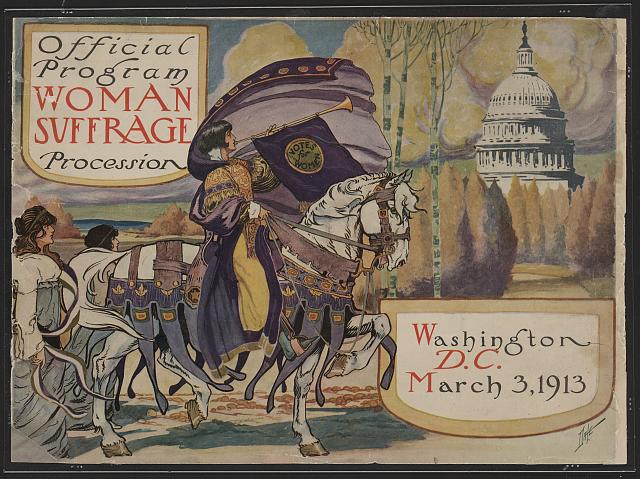 Suffrage Parade program