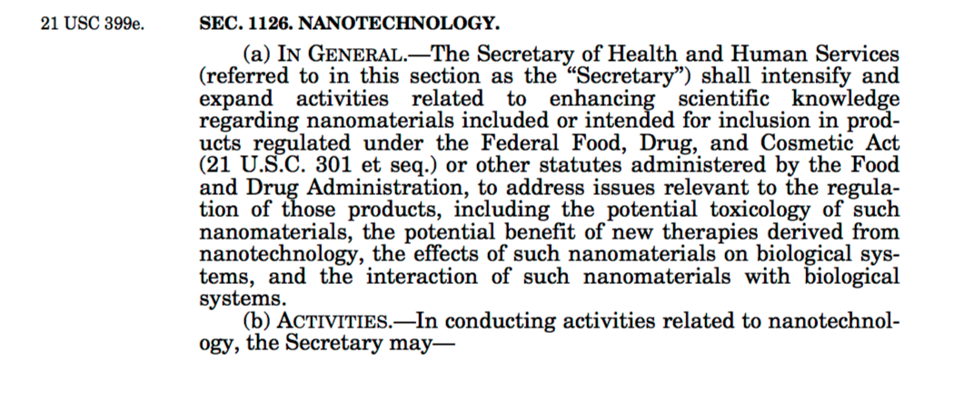 Screenshot of PDF version of S.3187, Food and Drug Administration Safety and Innovation Act