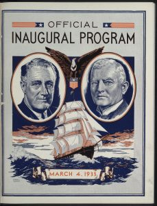 "From David Rankin Barbee's, ""Inaugural Balls of the Past,"" in the Inaugural Program, Inauguration. Franklin D. Roosevelt President of the United States. John N. Garner Vice President of the United States. March 4, 1933"