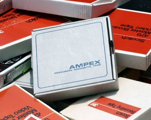 Pile of Ampex Video tapes