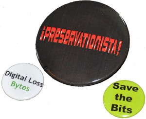 """Digital preservation buttons"" by wlef70 on Flickr"