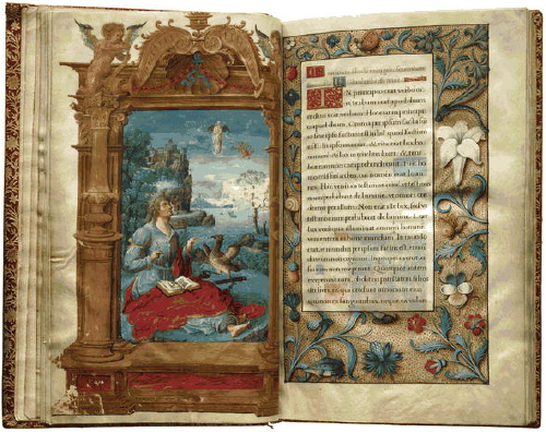 Figure 3. From the Book of Hours, a 1524 French illuminated manuscript, number 10 in the Lessing J. Rosenwald Collection in the Library of Congress Rare Book and Special Collections Division