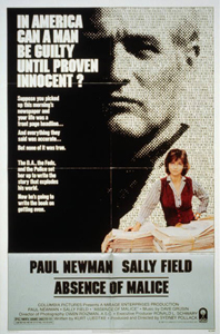 Absence of Malice movie poster. Image from the Library of Congress collections.