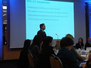 Chris Adams from the Library of Congress presents at the WDL 2011 Meeting