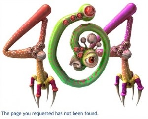 Spore 404 Error Page by user laughingsquid on Flickr
