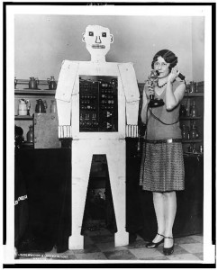 "No, not this type of robot....""Mr. Televox, the perfect servant, who is never late or insolent ...Library of Congress Prints and Photographs Division,LC-USZ62-106927"