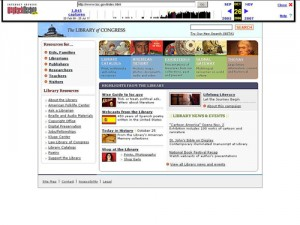 The 2006 Library of Congress website displayed in Internet Archive's Wayback Machine