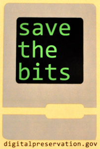 Save the bits sticker