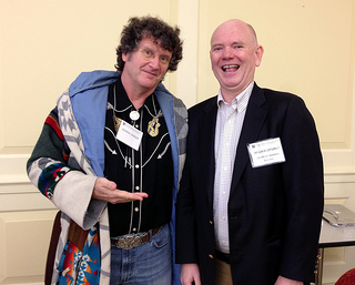 "The author with George ""The Fat Man"" Sanger at PDA2013"