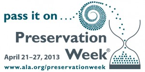 Preservation Week 2013 logo