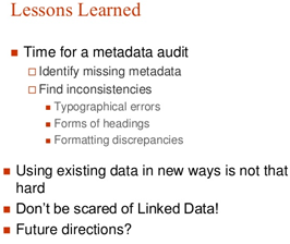 Re-Discovering and Linking Metadata in Viewshare Presentation