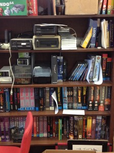 Shelves full of video games at the Briscoe Center UT Videogame Archive. Photo Credit: Butch Lazorchak