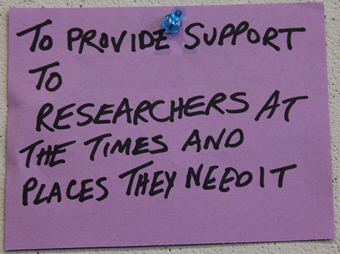To provide support to Clemson researchers at the times and places they need it, by By clemsonunivlibrary, on Flickr