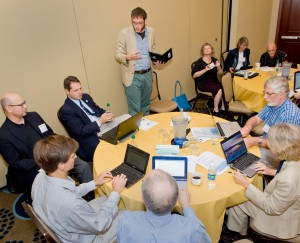Discussion during breakout session at the 2011 NDIIPP/NDSA meeting. Credit: Abby Brack