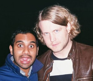 Ben Blackwell (right) with comedian Aziz Ansari. Photo Credit: Ben Blackwell