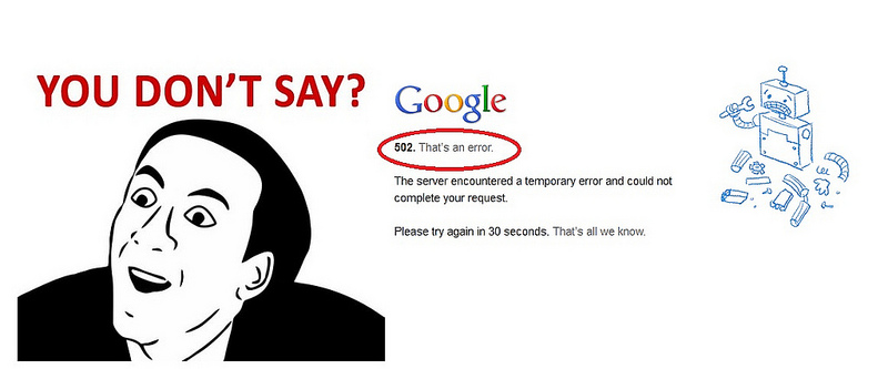 Google error, that's all we know, by wlef70, on Flickr