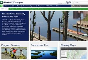 The National Blueway System Community Portal on the Geospatial Platform.