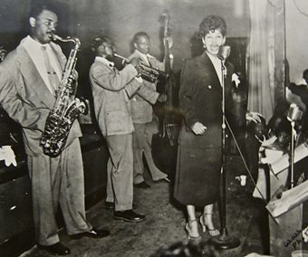Ruth Brown performing at the Dreamland Ballroom, North Omaha, NB, ca. 1949; from History Harvest