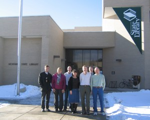 Montana State Library GIS staff. Photo courtesy Montana State Library.