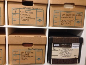 CIA behavior control experiments at the National Security Archive. Photo: Emily Reynolds.