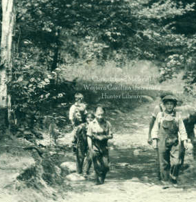 Children On Their Way to School. Hunter Library Digital Collections, Western Carolina University, Cullowhee, NC 28723