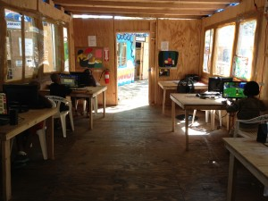 Image of the Computer Lab at the Gramsci Monument. Provided by Shannon Mattern.
