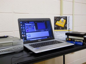 Campell County Public Library personal digital archiving station. Photo by Campbell County Public Library.