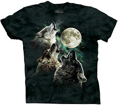 "Image of Three Wolf Moon t-shirt, which became an internet phenomena through its rating and reviews on Amazon. From user jimgroom on <a href=""https://www.flickr.com/photos/jimgroom/7276655474/"">Flickr</a>."