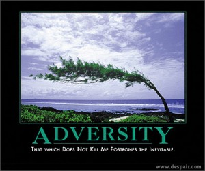 "Example of a Demotivational poster. Adversity by user cadsonline on <a href=""https://www.flickr.com/photos/cadsonline/889810735"">Flickr</a>."