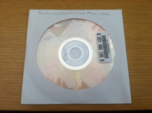 Original source disc as it was received by the Library of Congress.
